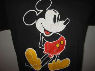 MICKEY MOUSE BLACK T Shirt SMALL/MEDIUM walt disney world soft