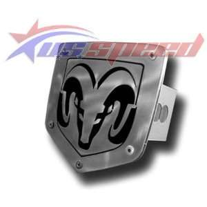 Ram Head Brushed Stainless Hitch Plug Cover Automotive