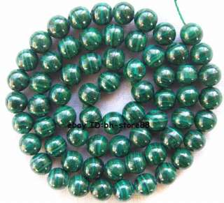6mm natural green Malachite round gemstone Beads 16