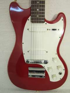 Vintage 1960s Kalamazoo Solid Body Electric Guitar Bright Red Made By