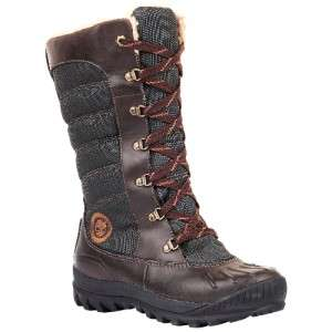 Mount Mt Holly Tall Duck Waterproof Snow Boots Brown Womens