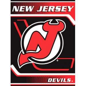 New Jersey Devils 60x80 Banner Super Plush Throw Sports