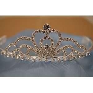 (BIG)Elegant Bridal Wedding Tiara Crown with Crystal Party