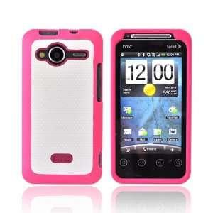 Hot Pink White Original Rubberized Hard Plastic Case Cover