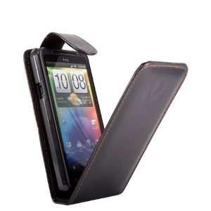 HTC EVO 3D Black Specially Designed Leather Flip Case Electronics