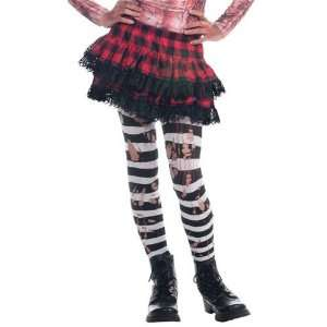 Black and White Ripped Kids Thigh High Tights Kitchen