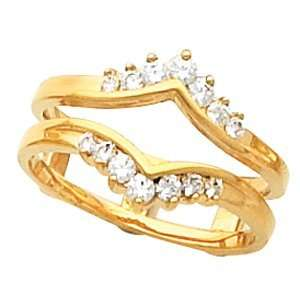 1/3 CT TW 14K Yellow Gold Diamond Ring Guard Jewelry