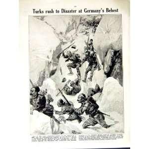 1914 15 WORLD WAR INDIAN MAXIM GUN SOLDIERS TURKISH