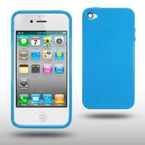 IPHONE 4G SOLID LIGHT BLUE GEL COVER CASE BY CELLAPOD