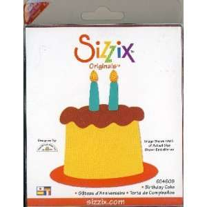 Sizzix Originals BIRTHDAY CAKE Die RED Home & Kitchen