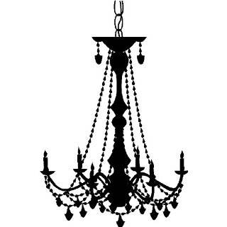 Art Home Decor, BLACK Chandelier 2 Wall Decals Stickers Art Home Decor