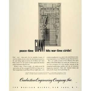 1942 Ad Combustion Engineering C E Boiler Unit Wartime