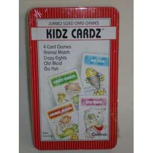 KIDZ CARDS **4 CARD GAMES**   ANIMAL MATCH   CRAZY EIGHTS