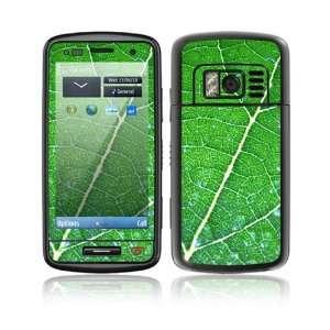 Nokia C6 01 Decal Skin Sticker   Green Leaf Texture