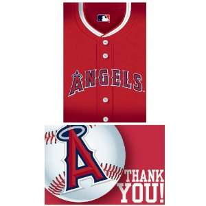 Los Angeles Angels Baseball   Invite & Thank You Combo (8 each) Party