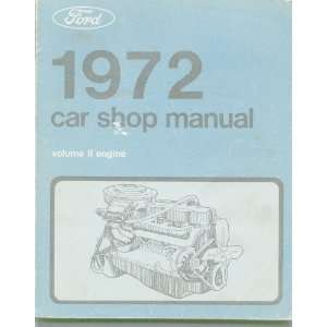 1972 Car Shop Manual (Engine, Volume 2) Books