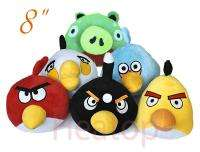 Angry Birds +Beard Pig Iphone Game Plush Toy set 8