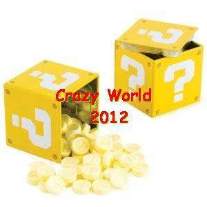 NEW Nintendo Super Mario Bros. Question Mark Box Coin Candies