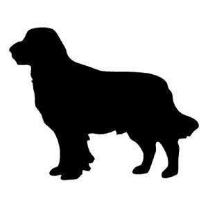 Bernese Mountain Dog Silouette   Vinyl Decal Sticker