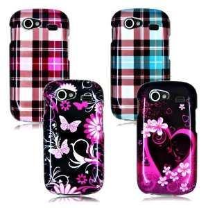 SAMSUNG GOOGLE NEXUS S I9020 FOUR CASE COMBO, PLAID, HEART, BUTTERFLYS