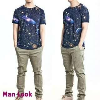 Stellar Space Graphic Print for Man or Woman Korean Fashion