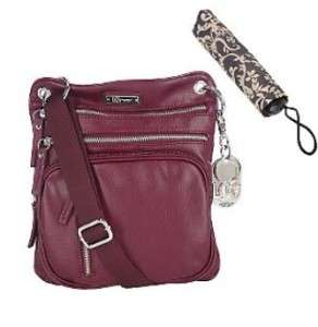 Liz Claiborne New York Multi Zip Crossbody Bag w/Umbrella