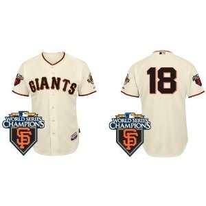 Wholesale New San Francisco Giants #18 Matt Cain Cream
