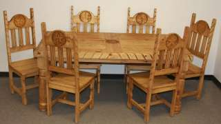 Rustic Dining Table Chairs All Wood Hand Carved Furniture