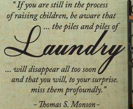 Vinyl Wall Decal Art Inspirational Laundry Room Mormon Thomas S Monson