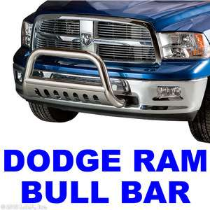 Bar 3 Stainless Push Grill Guard 2009 2010 DODGE RAM 1500 w/Tow Hooks