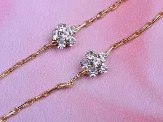 Gold Tone Multi Color Pink Opal Flower Petal Swarovski Crystal Pendant