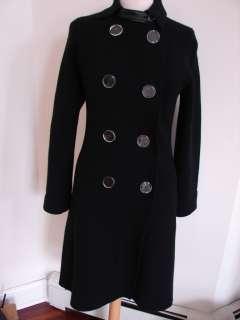 Tuleh Black Wool/Cashmere Sweater Coat/Jacket Sz 6