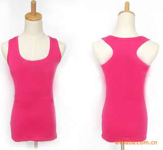 Women Ladies Sleeveless Garment Tank Top Camisole Ribbed T Shirt Vest