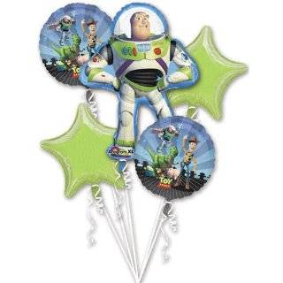 Disney Toy Story Buzz Lightyear Mylar Birthday Balloon Bouquet