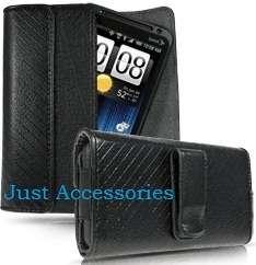 Sprint HTC EVO 3D Leather Pouch Case Belt Clip CFH2910R 760492018913