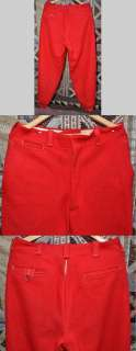 antique mens red wool hunting ski pants hike winter snow sport
