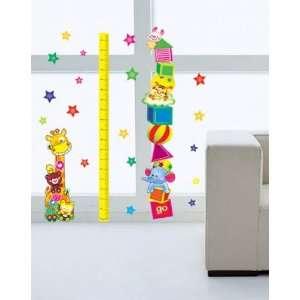 Circus Animal Growth Chart Sticker Decal for Baby Nursery Kids Room