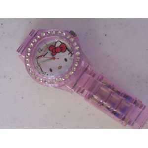 Hello Kitty Watch Clear Pink Color