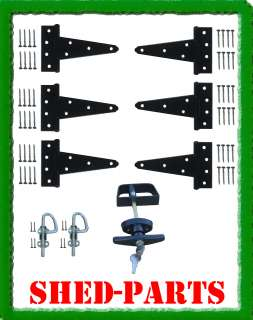 DOOR KIT 5 HARDWARE HINGES LOCK KEYS STORAGE BUILDING PARTS WINDOWS