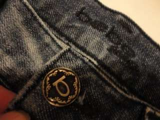 Low Rise CARMEN STUDDED Boot Cut Jeans Medium Stone Wash 28 x 33 EUC
