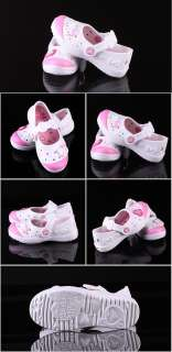 Authentic Hello Kitty Girls Kids Casual Athletic Shoes Aqua Water