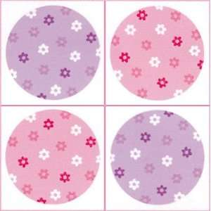 Flower Polka Dot Wall Decals Stickers