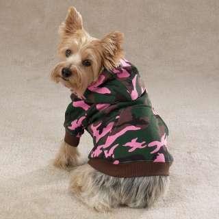 Medium Casual Canine CAMO DOG HOODIE Sweatshirt Coat M