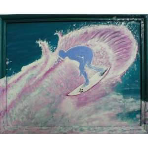 Surfer original acrylic painting   by Todd Carter