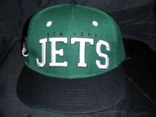 New York Jets Green SNAPBACK Adjustable BIG TEXT Hat Cap osfm sanchez