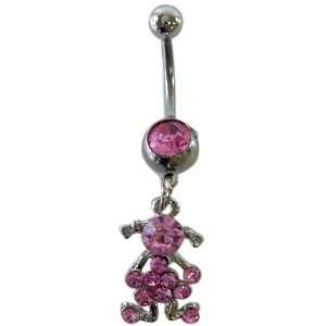 , nombril anneau avec jeune fille en robe rose; 1mm Toys & Games