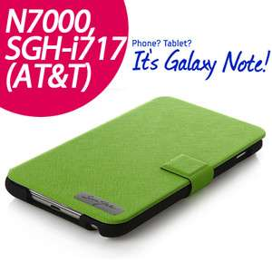 Tridea] SAMSUNG Galaxy Note/N7000/i717 AT&T leather FLIP Case   green