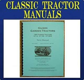 Gilson Montgomery WARDS 1987 Garden Tractor Parts Manua