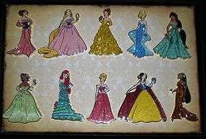 Disney Princess Designer Doll Dress Pin Set LE150 Pins