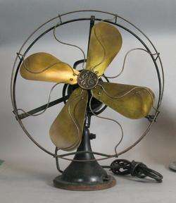 Antique General Electric Art Deco 3 Speed Fan c. 1930s Working